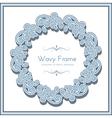 Wavy circle frame vector
