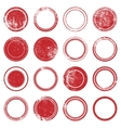 Red ronded grunge stamp vector