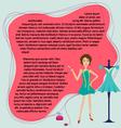 Fashion designer label background vector