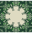 Green stylized ornate frame card in arabic style vector