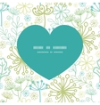 Mysterious green garden heart silhouette vector
