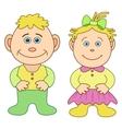 Toys boy and girl vector