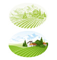 Country landscape vector