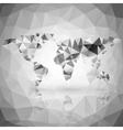 World map triangle design vector