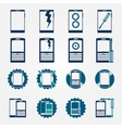 Mobile phone repair icons set vector