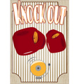 Knock out boxing poster vector