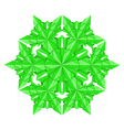 Green paper snowflake vector