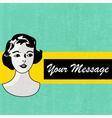 Retro message background vector