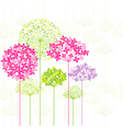 Springtime colorful flower vector