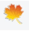 Autumn geometric background vector