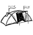 Camping tent vector