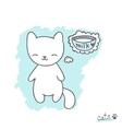 Sketch with kitten vector