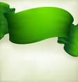 Waving green ribbon banner  drawing vector