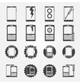 Mobile phone service icon set vector