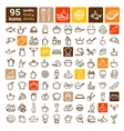 Food icons big set vector