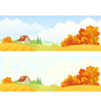 Rural autumn banners vector