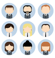 Set of colorful office businessman people icons vector