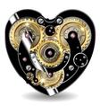 Steampunk mechanical heart vector