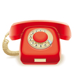 Old red phone vector