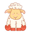 Sheep character of chinese new year symbol vector