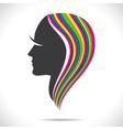 Colorful hair of beautiful women vector