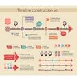 Presentation timeline chart elements vector