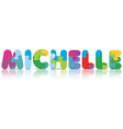 Michelle written with alphabet puzzle vector