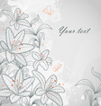 Lily background vector