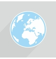 Hand drawn planet earth on grey background vector