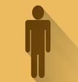 Sign of men flat long shadow vector