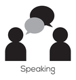 Speaking icon vector