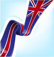 England ribbon flag on background vector