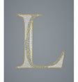 Abstract golden letter l vector