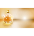 Golden christmas background with copy space vector