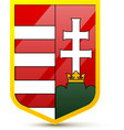 Coat of arms hungary vector