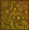 Floral doodle background vector
