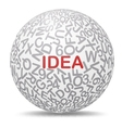 Idea text graphic concept vector