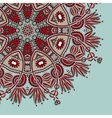 Ornamental template with circle floral background vector