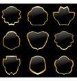Gold and black vintage frames - set vector