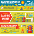 Summer camping - mountain expedition adventures vector