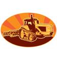 Mechanical digger excavator vector