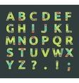 Creative spectral alphabet of geometric paper vector