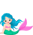 Mermaid baby girl vector