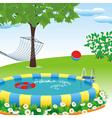 Outdoor pool vector
