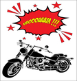 Chopper motorcycle silhouette vector
