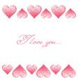 Hand drawn colorful valentine hearts border vector