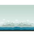 Mountains ashore2 vector
