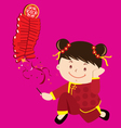 Cultural little girl vector