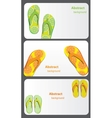 Gift card with flip flops isolated on white vector