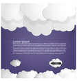 Dark blue sky with white clouds vector